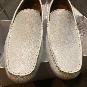 Men's Calvin Klein Tumbled Leather Slip On Loafers